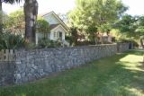 freestanding bluestone wall, corinda