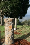 round entrance pillar - seaview farm retreat, mt tamborine