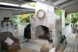 stone outdoor fireplace (day)