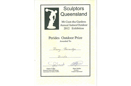 SCULPTORS QUEENSLAND – 	Mt Coo-tha Gardens Annual Indoor/Outdoor 2012 Exhibition